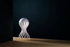 Oblure Cirrata, vit bordslampa