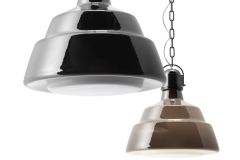 foscarini-GLAS_GRANDE_suspension_swiched_off_and_PICCOLA_swiched_on