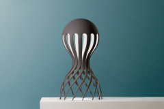 Oblure Cirrata, grå-blå bordslampa